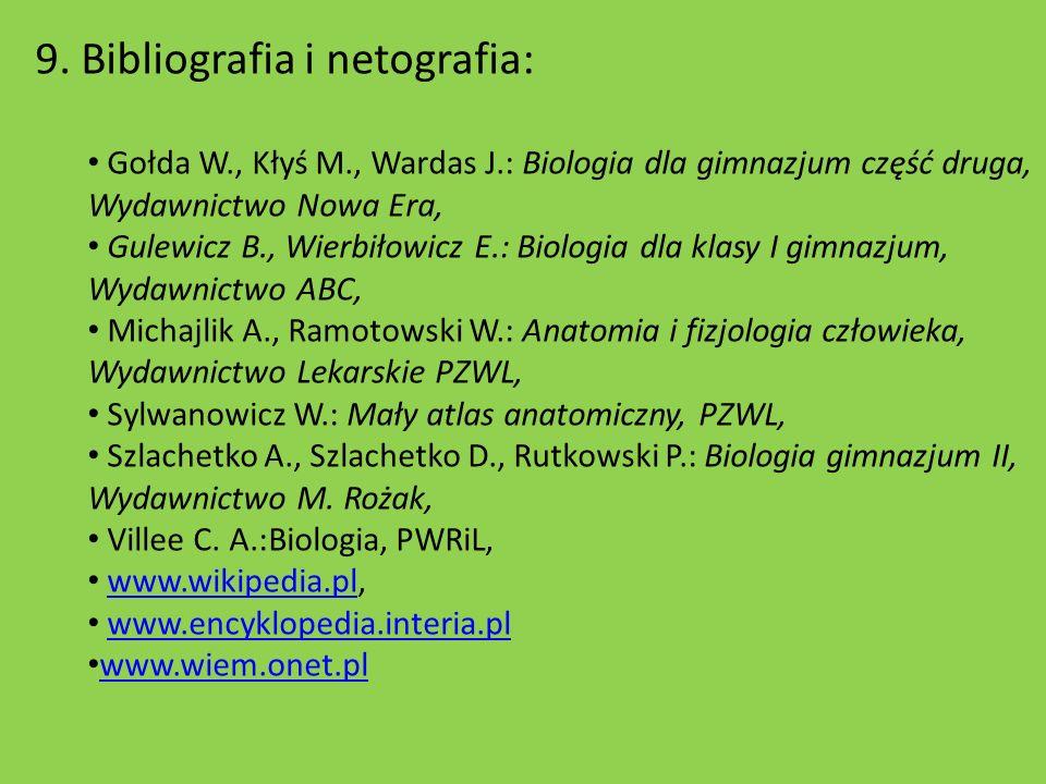 9. Bibliografia i netografia: