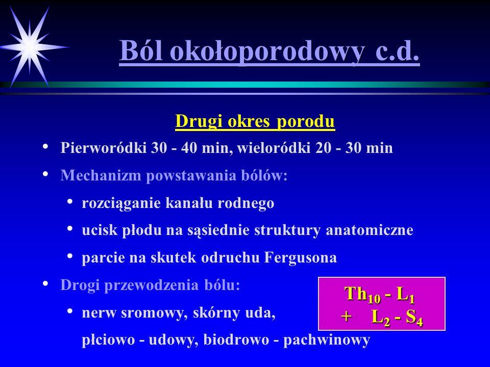 Ból okołoporodowy c.d. Drugi okres porodu Th10 - L1 + L2 - S4