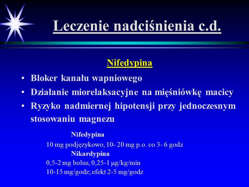 Leczenie nadciśnienia c.d.