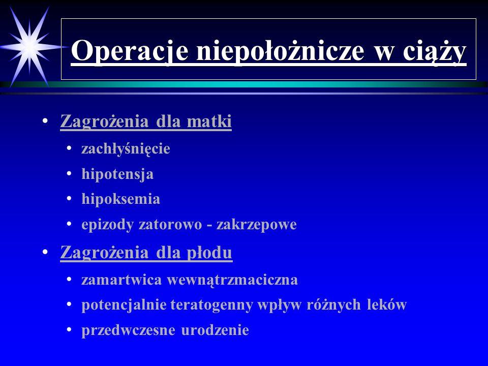 Operacje niepołożnicze w ciąży