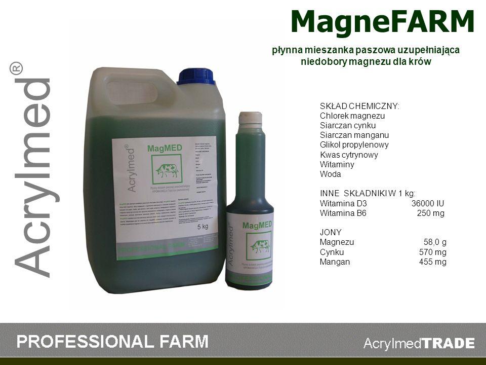 płynna mieszanka paszowa uzupełniająca niedobory magnezu dla krów