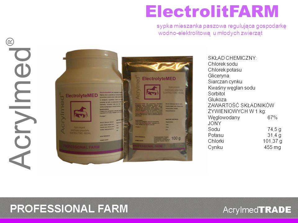 Acrylmed® ElectrolitFARM sypka mieszanka paszowa regulująca gospodarkę