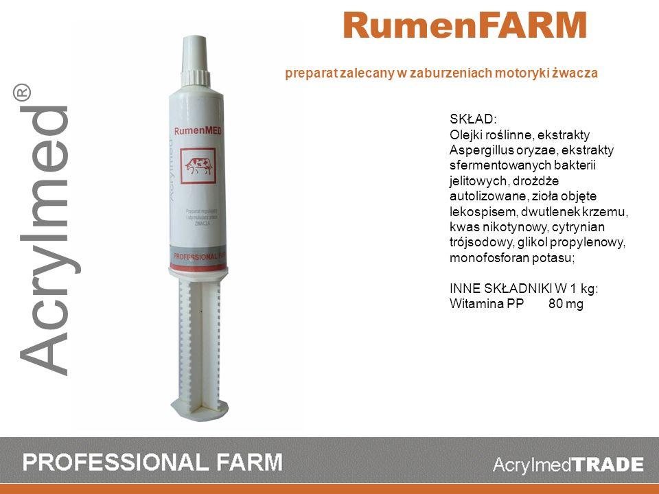 Acrylmed® RumenFARM preparat zalecany w zaburzeniach motoryki żwacza