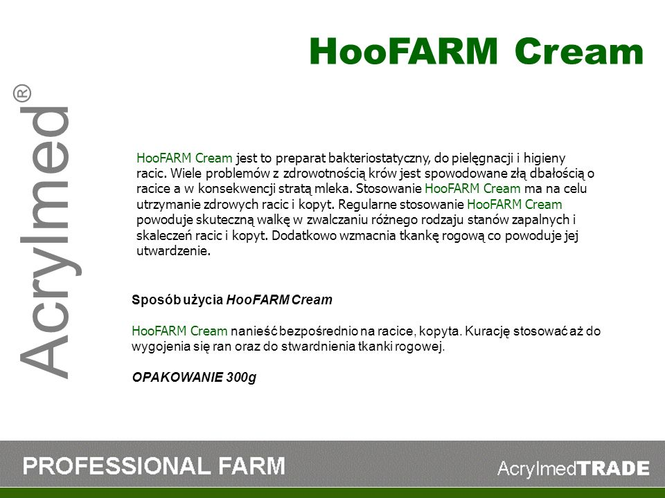 Acrylmed® HooFARM Cream