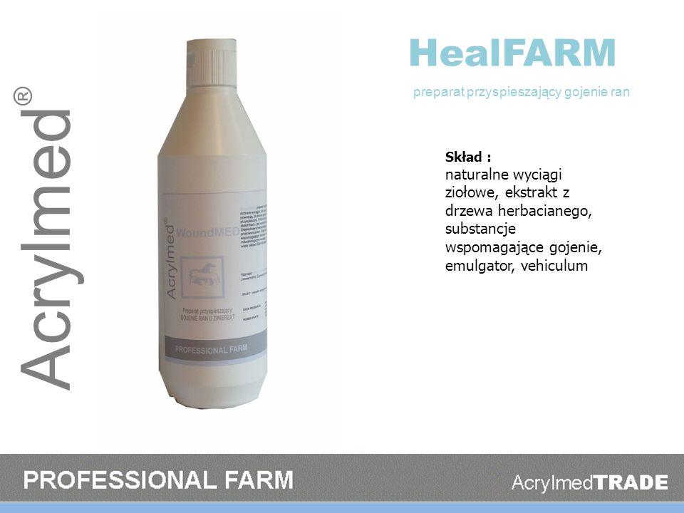 HealFARM preparat przyspieszający gojenie ran. Skład :