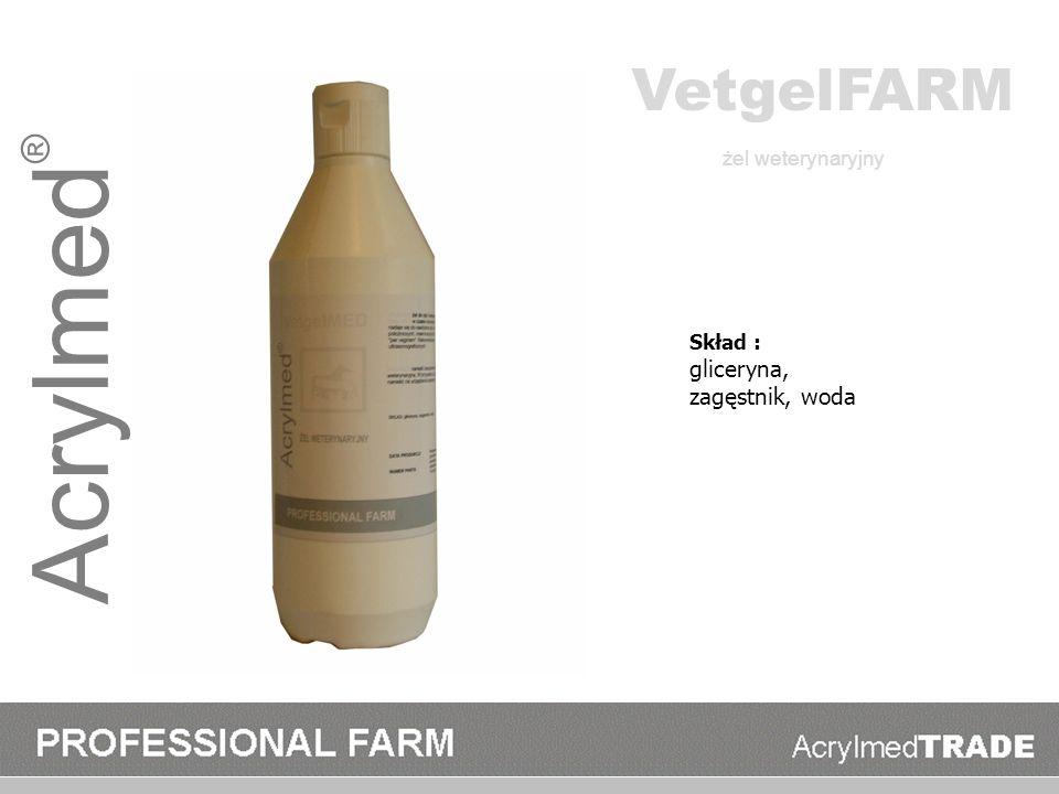 Acrylmed® VetgelFARM gliceryna, zagęstnik, woda żel weterynaryjny