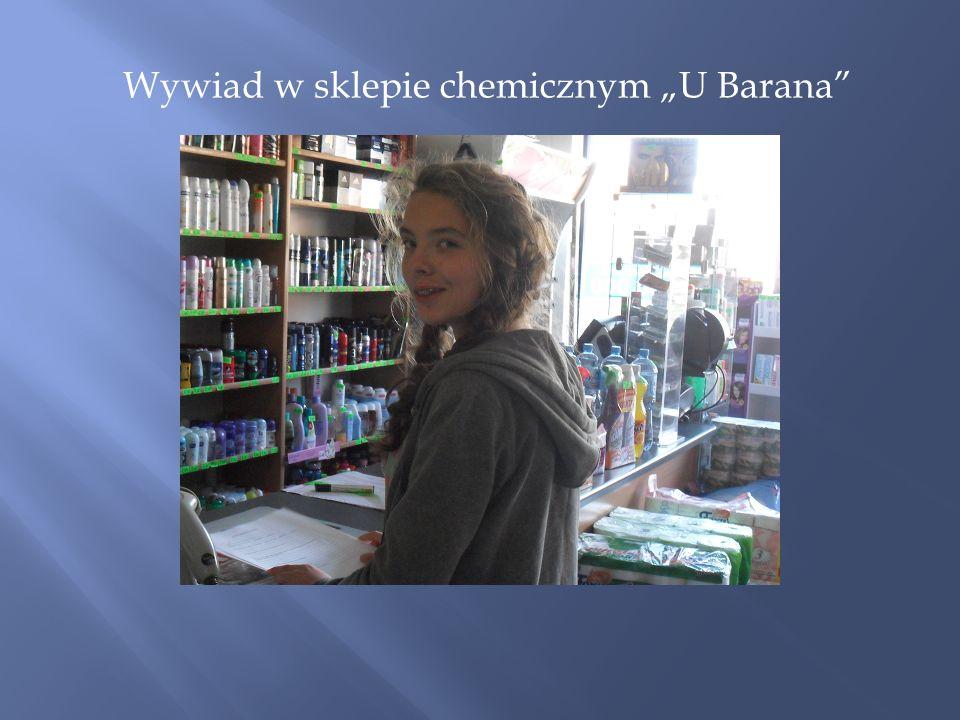 """Wywiad w sklepie chemicznym """"U Barana"""