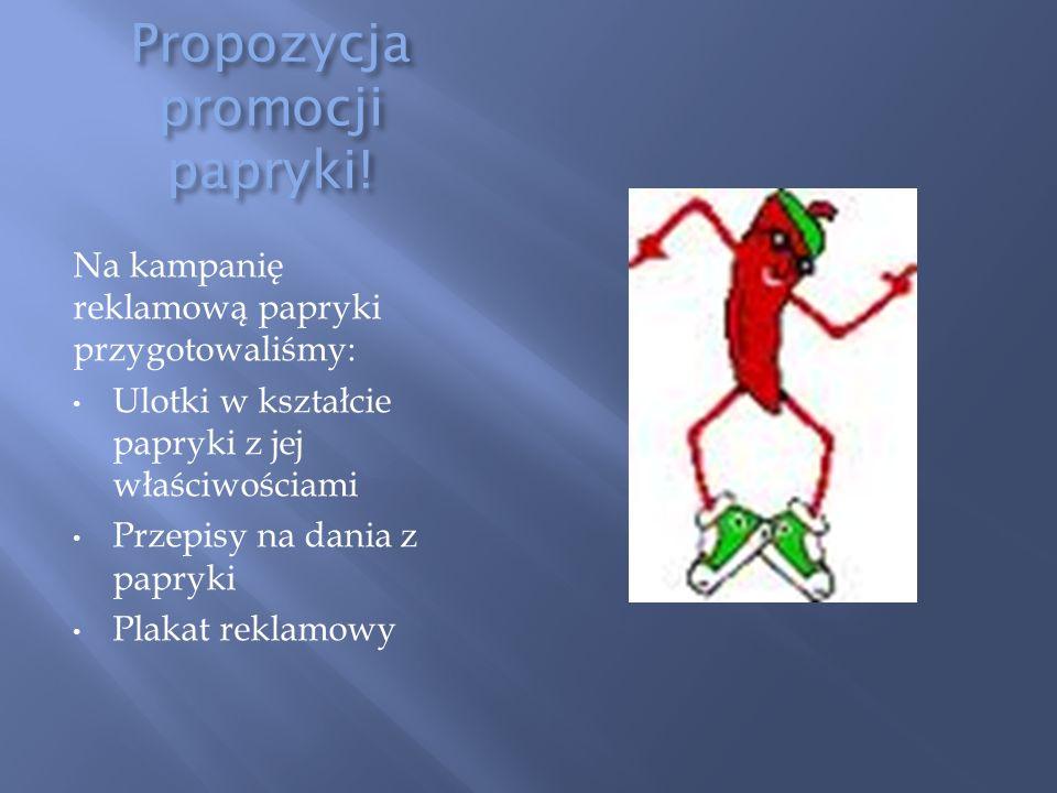 Propozycja promocji papryki!