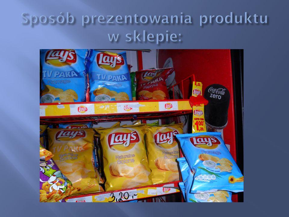 Sposób prezentowania produktu w sklepie: