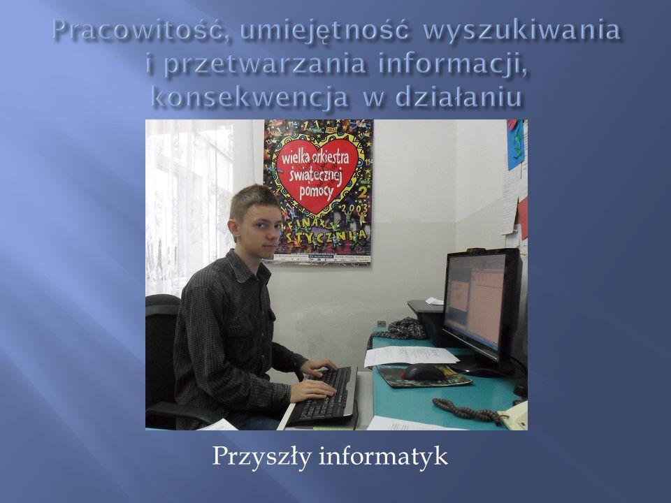 Pracowitość, umiejętność wyszukiwania i przetwarzania informacji, konsekwencja w działaniu