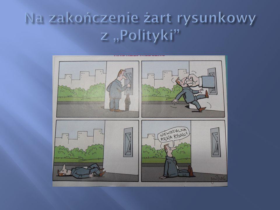 """Na zakończenie żart rysunkowy z """"Polityki"""