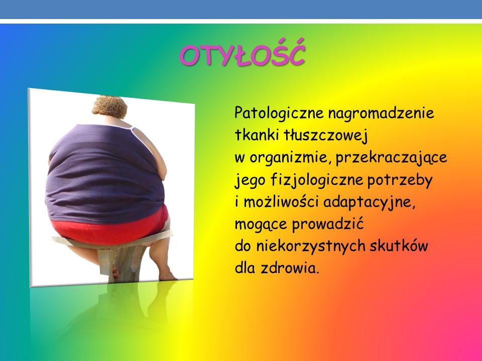 OTYŁOŚĆ Patologiczne nagromadzenie tkanki tłuszczowej