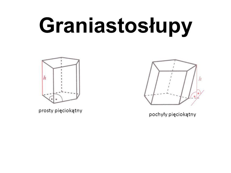 Graniastosłupy prosty pięciokątny pochyły pięciokątny