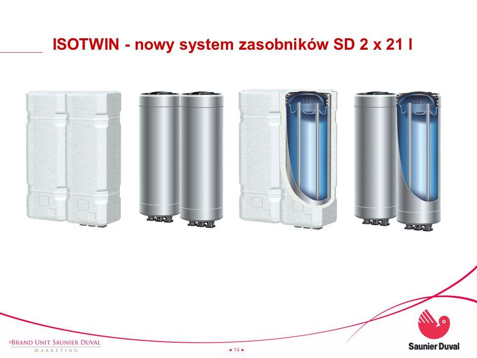 ISOTWIN - nowy system zasobników SD 2 x 21 l