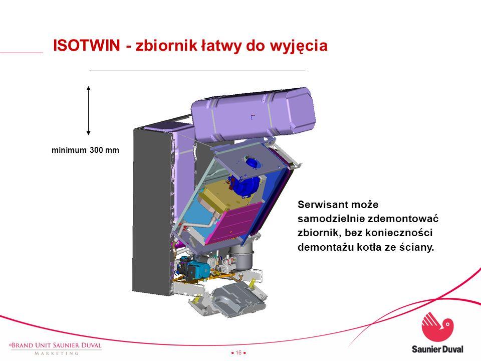 ISOTWIN - zbiornik łatwy do wyjęcia