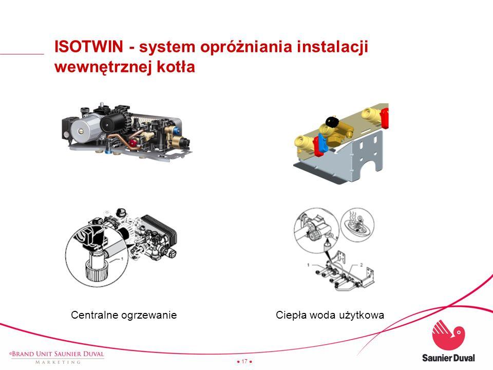 ISOTWIN - system opróżniania instalacji wewnętrznej kotła