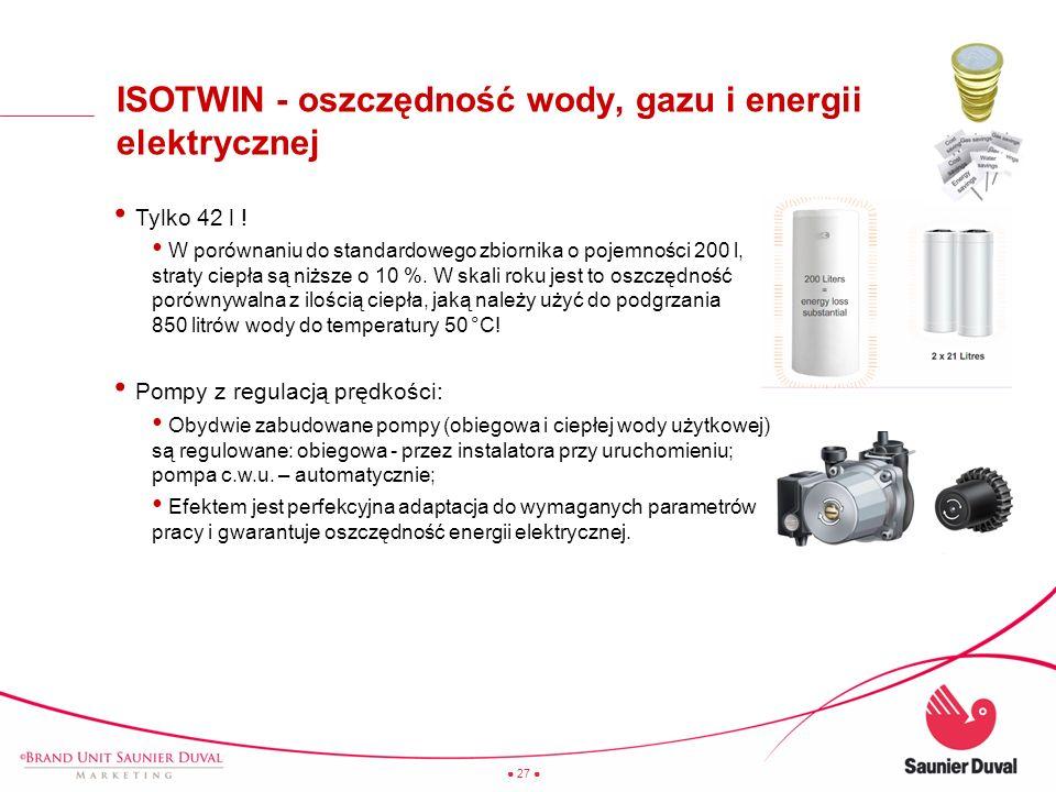 ISOTWIN - oszczędność wody, gazu i energii elektrycznej
