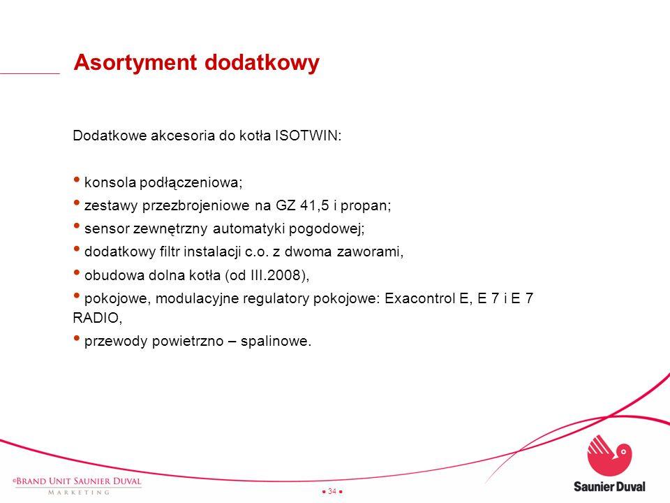 Asortyment dodatkowy Dodatkowe akcesoria do kotła ISOTWIN: