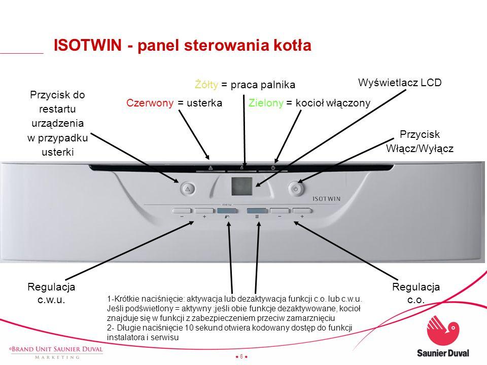 ISOTWIN - panel sterowania kotła