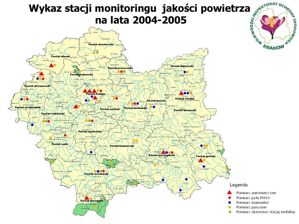 Wykaz stacji monitoringu jakości powietrza