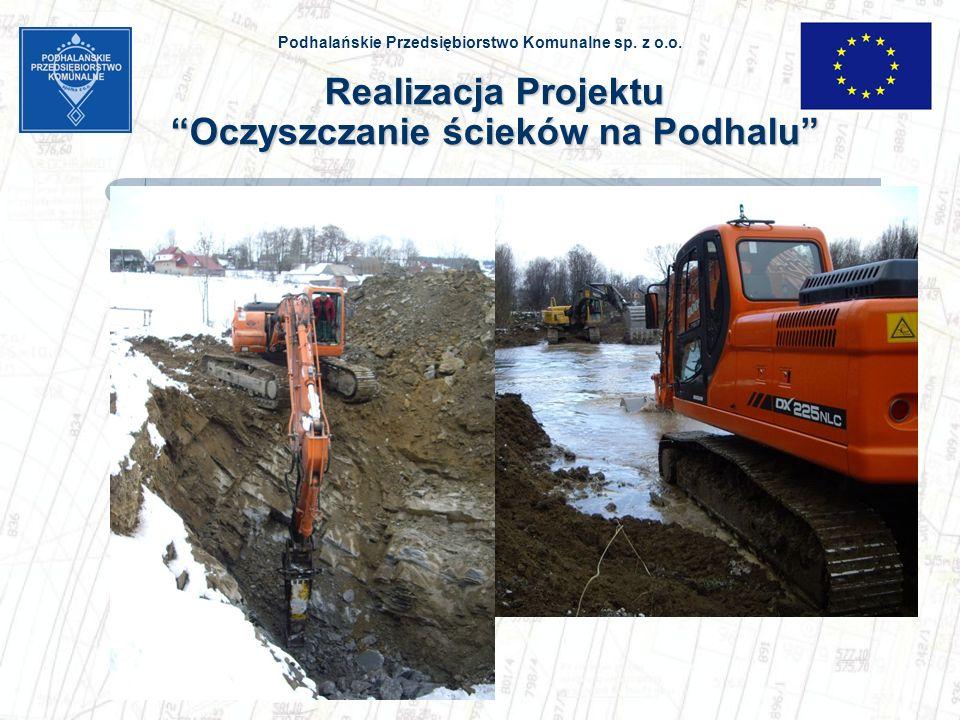 Realizacja Projektu Oczyszczanie ścieków na Podhalu
