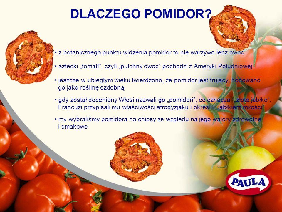 DLACZEGO POMIDOR • z botanicznego punktu widzenia pomidor to nie warzywo lecz owoc.