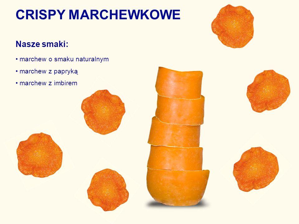 CRISPY MARCHEWKOWE Nasze smaki: • marchew o smaku naturalnym