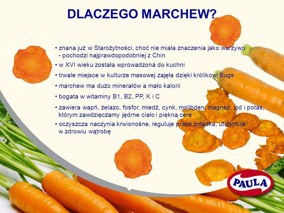 DLACZEGO MARCHEW • znana już w Starożytności, choć nie miała znaczenia jako warzywo. - pochodzi najprawdopodobniej z Chin.