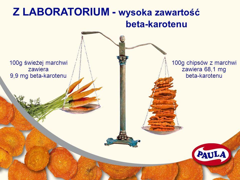 Z LABORATORIUM - wysoka zawartość beta-karotenu