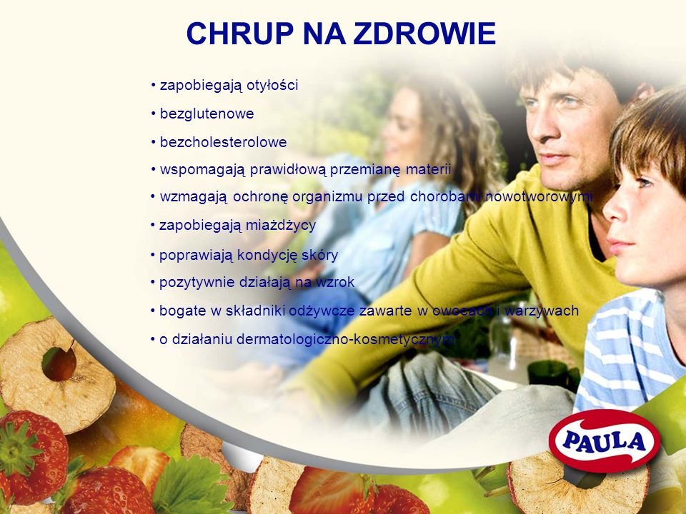 CHRUP NA ZDROWIE • zapobiegają otyłości • bezglutenowe