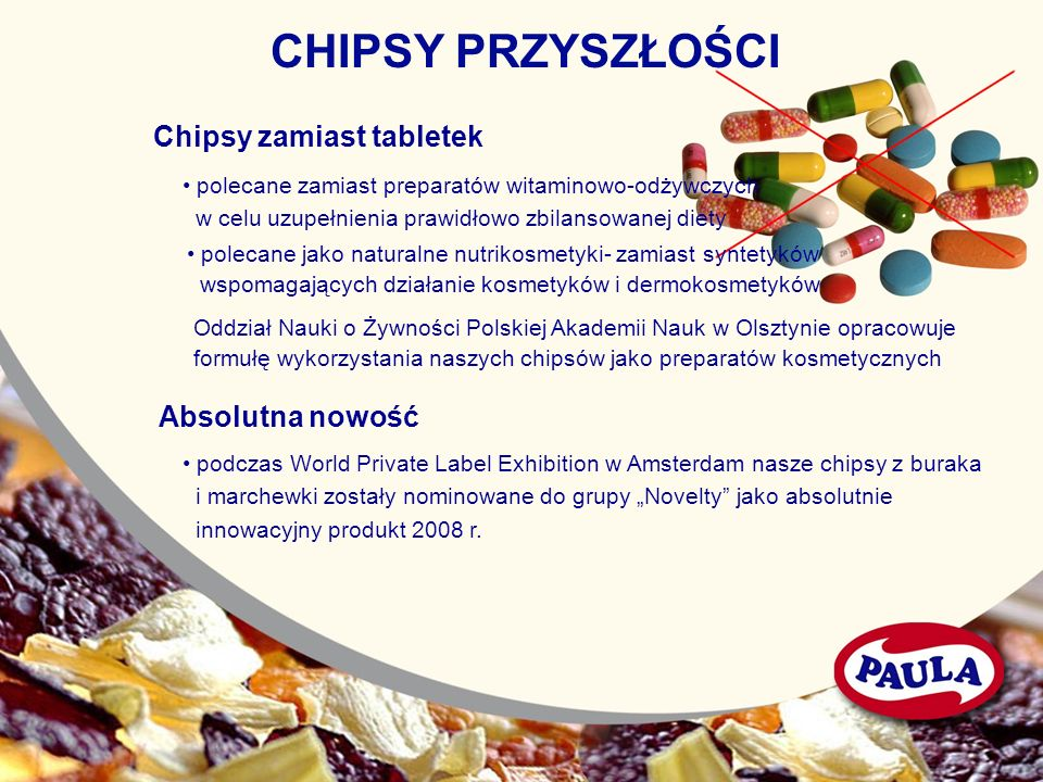 CHIPSY PRZYSZŁOŚCI Chipsy zamiast tabletek Absolutna nowość