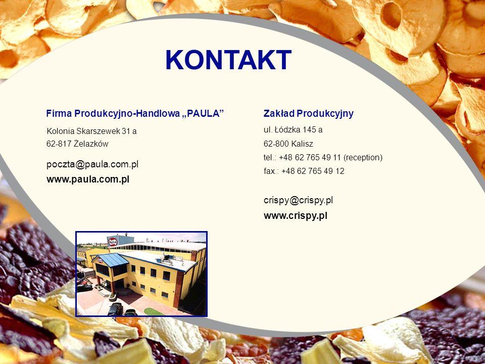 """KONTAKT Firma Produkcyjno-Handlowa """"PAULA Zakład Produkcyjny"""