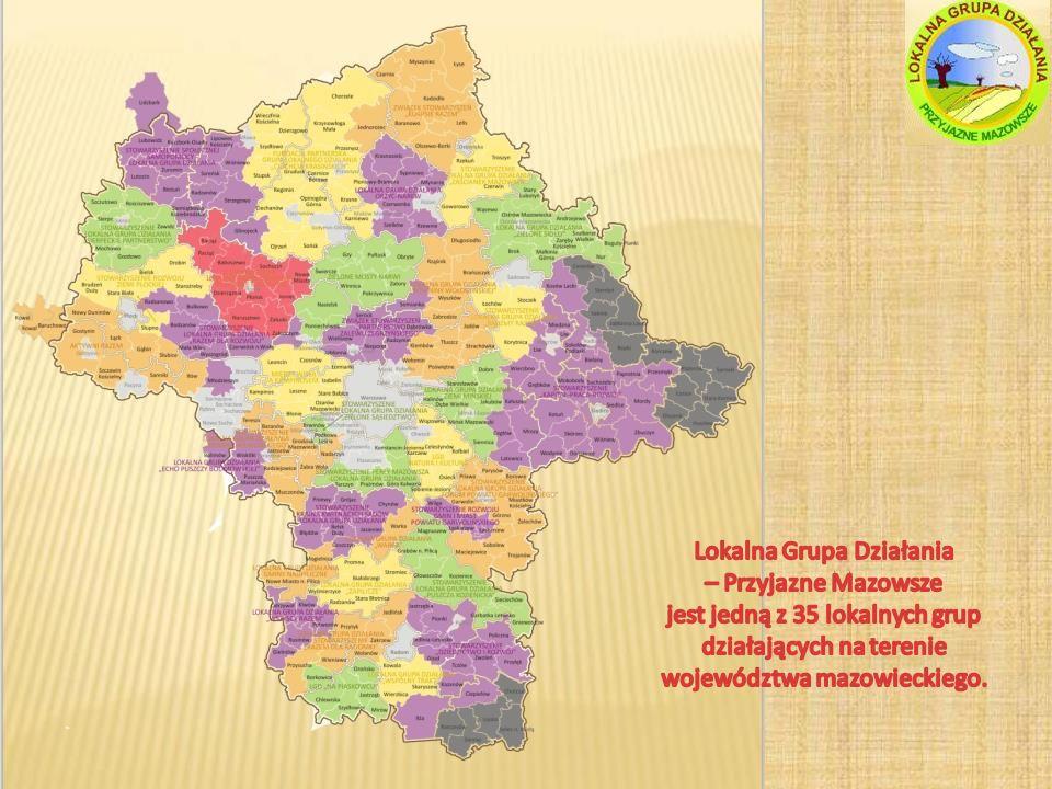Lokalna Grupa Działania – Przyjazne Mazowsze jest jedną z 35 lokalnych grup działających na terenie województwa mazowieckiego.