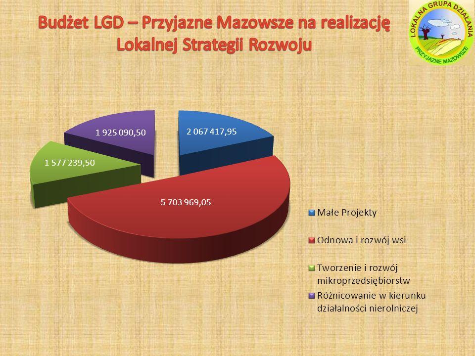 Budżet LGD – Przyjazne Mazowsze na realizację Lokalnej Strategii Rozwoju