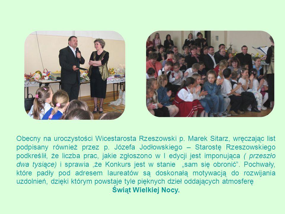 Obecny na uroczystości Wicestarosta Rzeszowski p