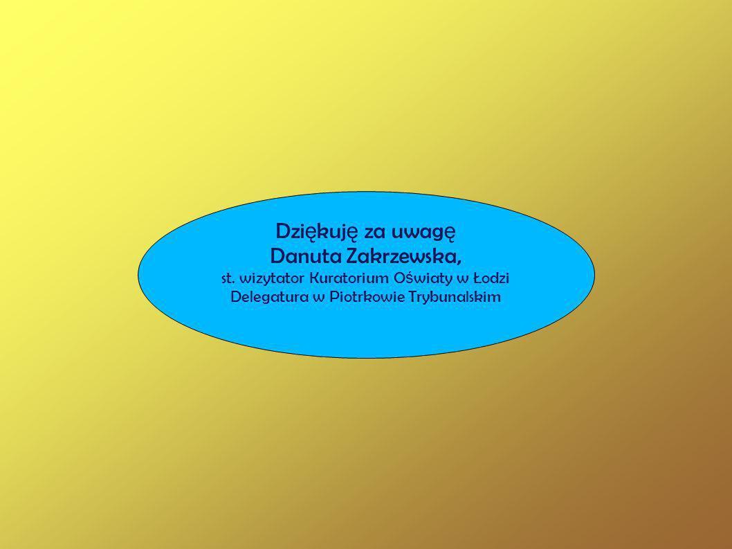 Dziękuję za uwagę Danuta Zakrzewska,