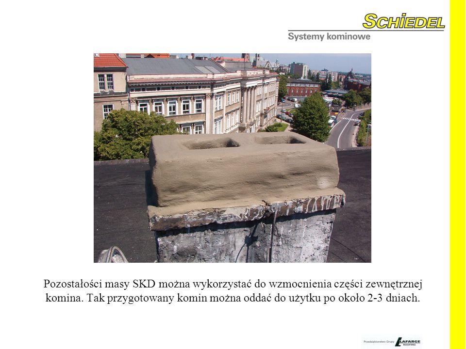 Pozostałości masy SKD można wykorzystać do wzmocnienia części zewnętrznej komina.