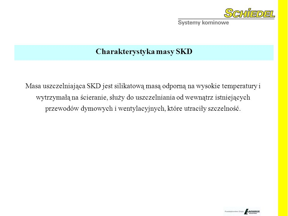 Charakterystyka masy SKD