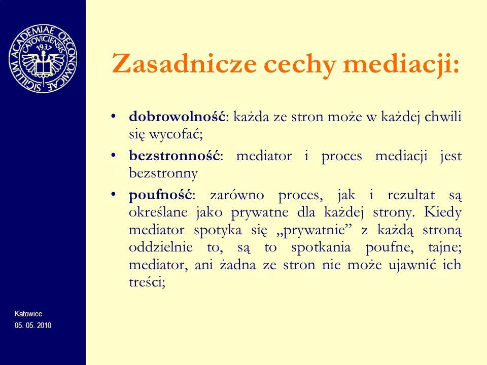 Zasadnicze cechy mediacji: