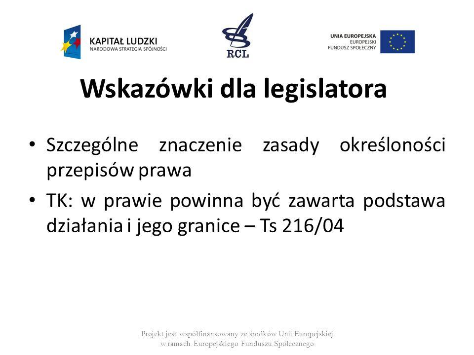 Wskazówki dla legislatora