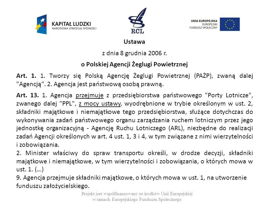 o Polskiej Agencji Żeglugi Powietrznej