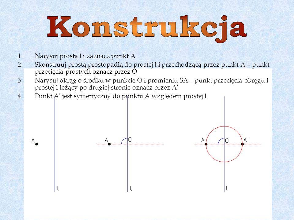 Konstrukcja Narysuj prostą l i zaznacz punkt A