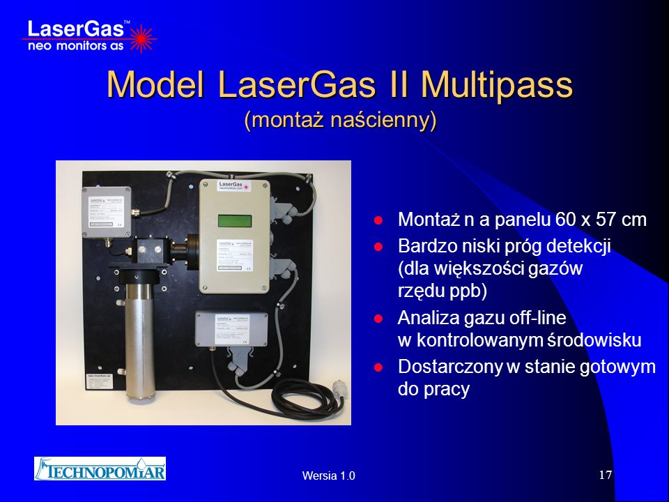 Model LaserGas II Multipass (montaż naścienny)