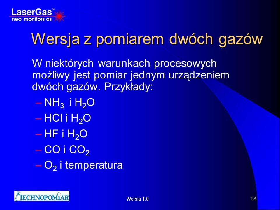 Wersja z pomiarem dwóch gazów