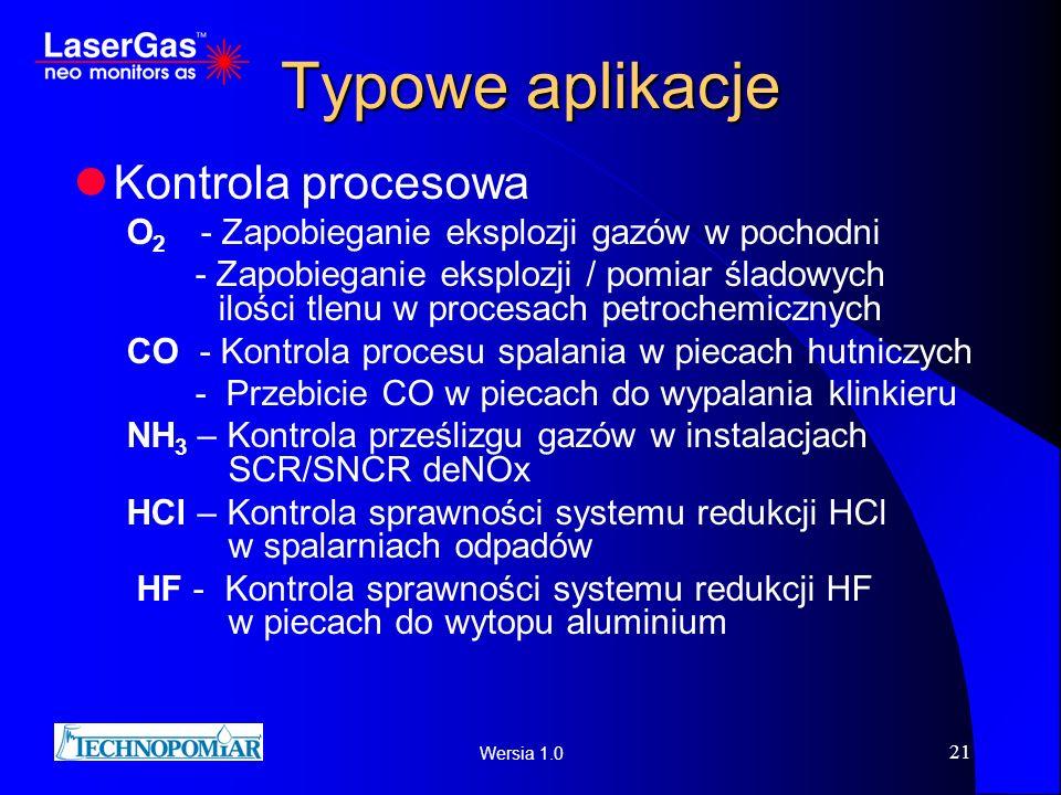 Typowe aplikacje Kontrola procesowa