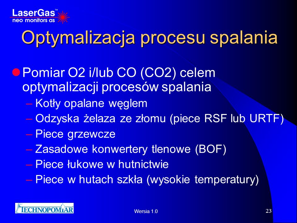 Optymalizacja procesu spalania