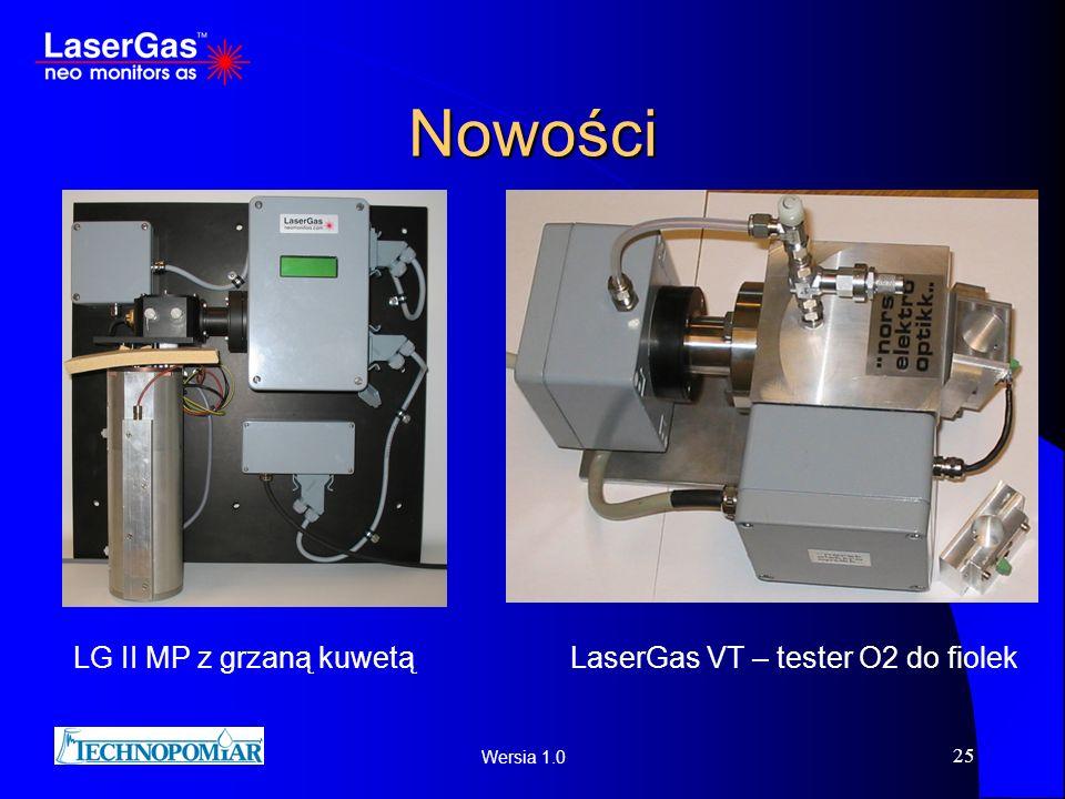 Nowości LG II MP z grzaną kuwetą LaserGas VT – tester O2 do fiolek