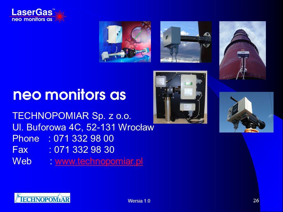 TECHNOPOMIAR Sp. z o.o. Ul. Buforowa 4C, 52-131 Wrocław. Phone : 071 332 98 00. Fax : 071 332 98 30.
