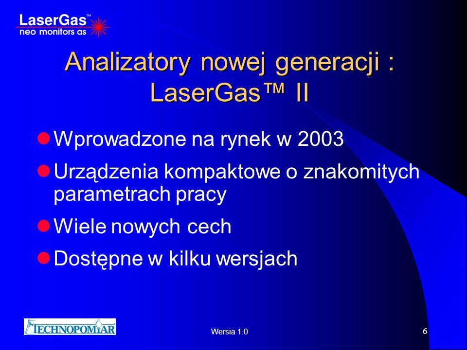 Analizatory nowej generacji : LaserGas™ II