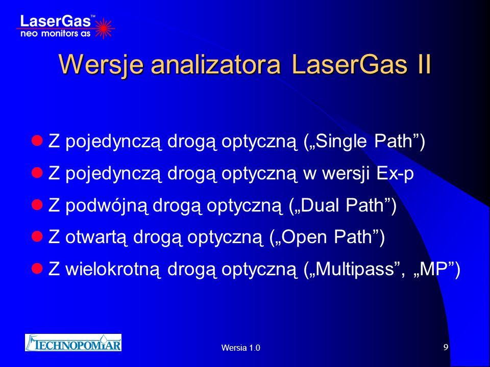 Wersje analizatora LaserGas II